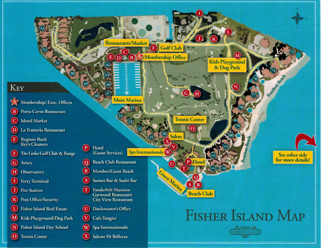 Fisher Island Map