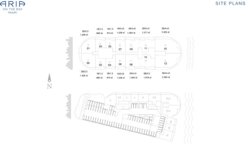aria-on-the-bay-master-key-plan
