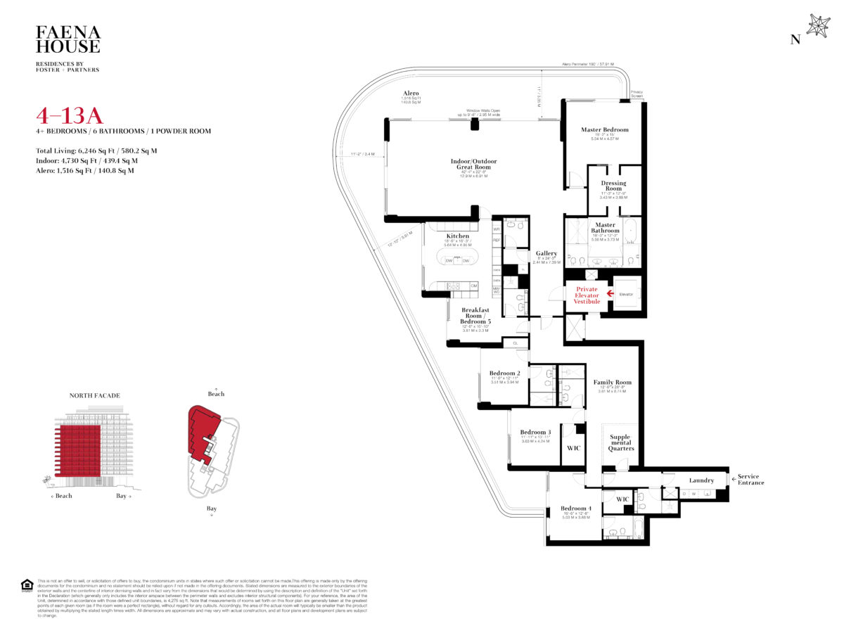 Faena House Floor Plans