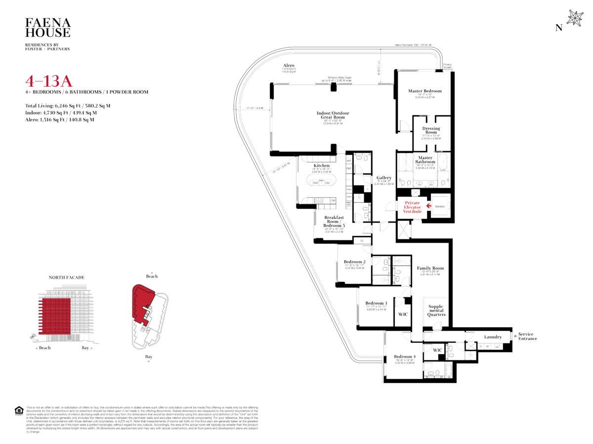 Faena House Floor Plans