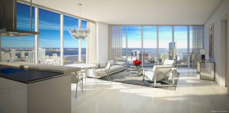 Brickell-Miami -Living-room