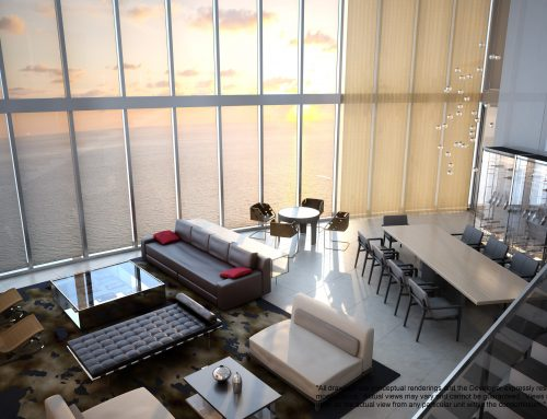 Just Listed -Porsche Design Tower – Large 2story PH with 4 car-garage